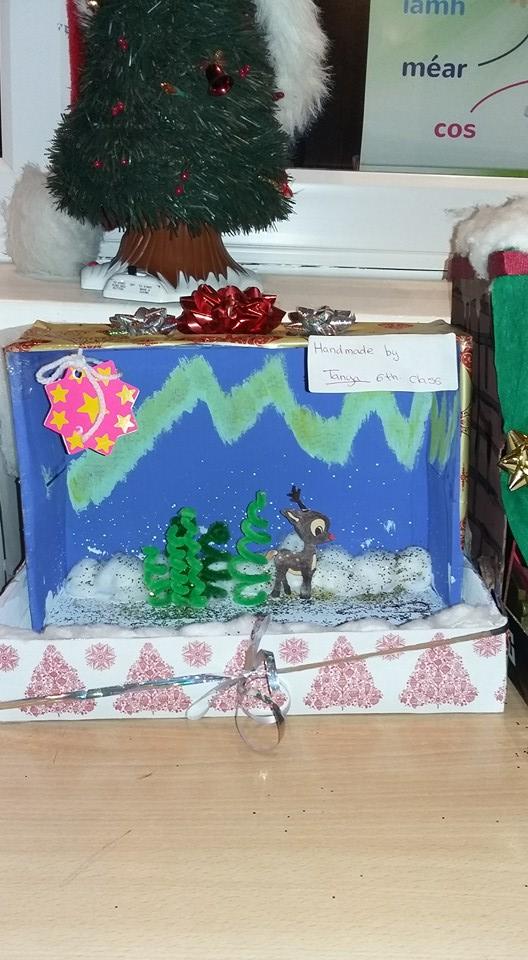 Christmas Shoebox Diorama.Christmas Dioramas Mr Ronan O Meara Sixth Class 2015