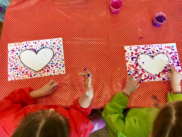 Our Valentine S Art Ms Shirley Kingston Senior Infants 2016 2017